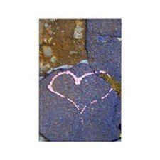 heart in stone Rectangle Magnet
