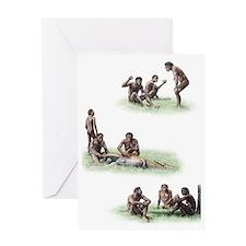 Homo ergaster behaviour Greeting Card