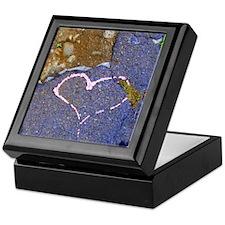 heart in stone Keepsake Box