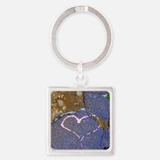 heart in stone Square Keychain
