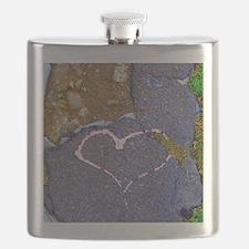 heart in stone Flask