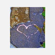 heart in stone Throw Blanket