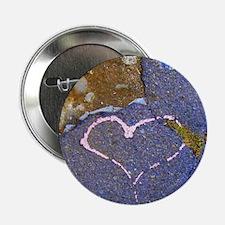 "heart in stone 2.25"" Button"