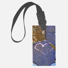 heart in stone Luggage Tag