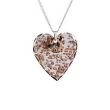 Hominid fossil skull 1470 Necklace Heart Charm