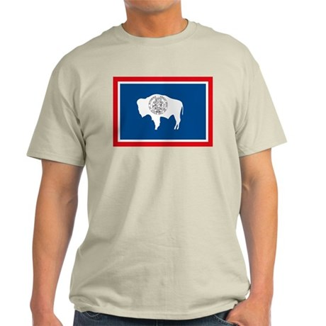 Wyoming Flag Light T-Shirt