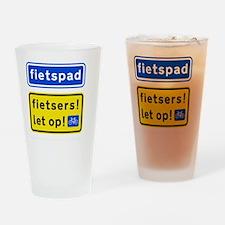 fietspadFietsers Drinking Glass