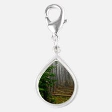 Pine forests 2 Silver Teardrop Charm