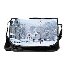 Heavy snowfall, Braemar, Scotland Messenger Bag