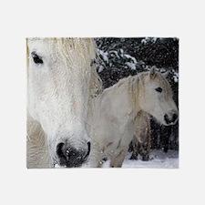 Highland ponies Throw Blanket