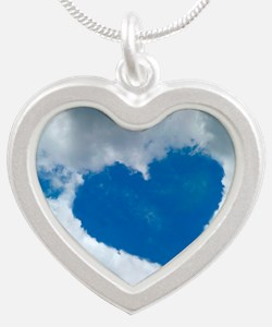 Heart-shaped cloud formation Silver Heart Necklace
