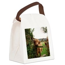 Highland cow Canvas Lunch Bag