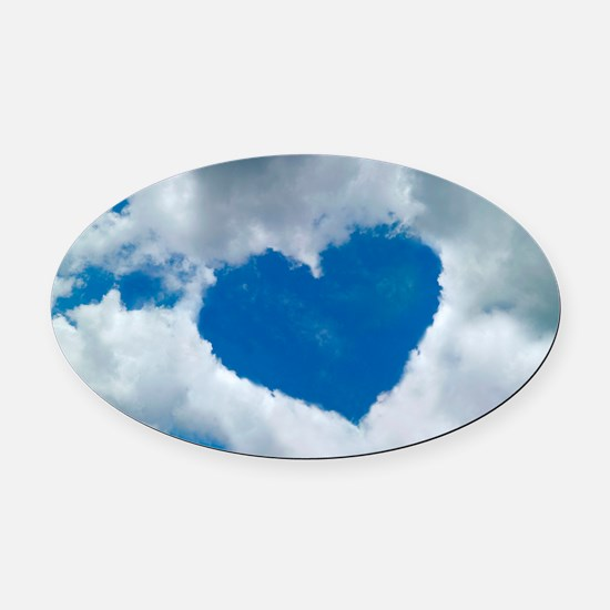 Heart-shaped cloud formation Oval Car Magnet