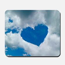 Heart-shaped cloud formation Mousepad