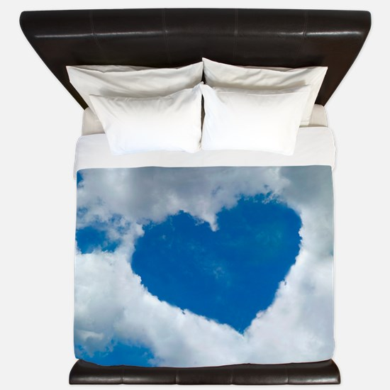 Heart-shaped cloud formation King Duvet