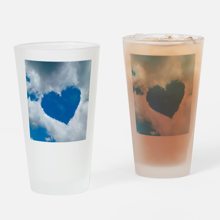 Heart-shaped cloud formation Drinking Glass