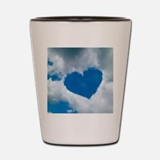 Heart-shaped cloud formation Shot Glass