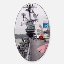 Military jets on aircraft carrier Decal
