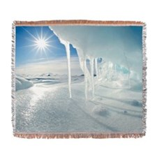 Melting Arctic ice, Canada Woven Blanket