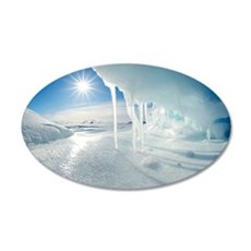 Melting Arctic ice, Canada 35x21 Oval Wall Decal