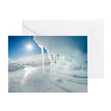 Melting Arctic ice, Canada Greeting Card