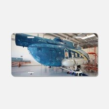 Helicopter in servicing han Aluminum License Plate