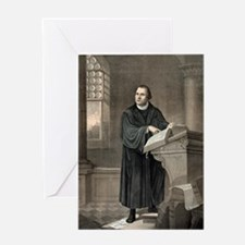 Martin Luther, German theologian Greeting Card