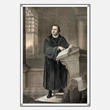 Martin Luther, German theologian Banner