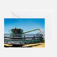 Harvesting wheat grain Greeting Card