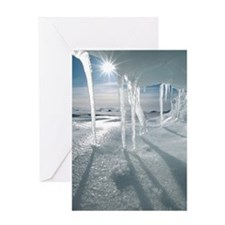Melting Arctic ice, Canada Greeting Card
