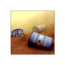 "Hazardous waste disposal, a Square Sticker 3"" x 3"""