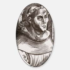 Martin Luther, German theologian Sticker (Oval)