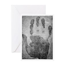 Handprint forensics, 19th century Greeting Card