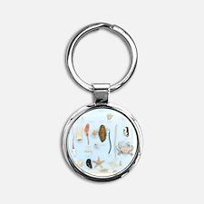 Marine life specimens Round Keychain