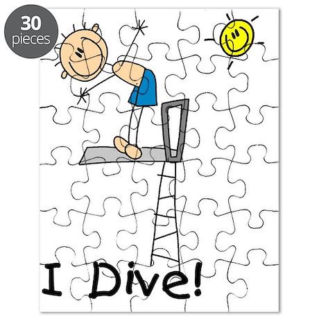 Boy I Dive Stick Figure Puzzle