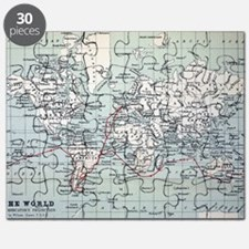 Map2 Darwin's Beagle Voyage South America Puzzle