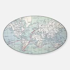Map2 Darwin's Beagle Voyage South A Decal
