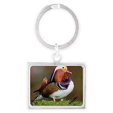 Male mandarin duck Landscape Keychain