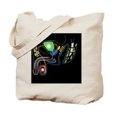 Male genitourinary system, artwork Tote Bag