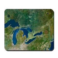 Great Lakes, satellite image Mousepad