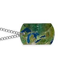 Great Lakes, satellite image Dog Tags