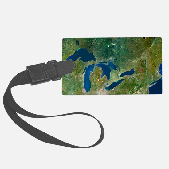 Great Lakes, satellite image Luggage Tag