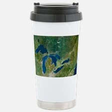 Great Lakes, satellite image Stainless Steel Trave