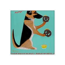 """Shepherds Pretzels Square Sticker 3"""" x 3"""""""