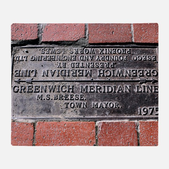Greenwich Meridian marker Throw Blanket