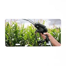 Maize biofuel, conceptual i Aluminum License Plate