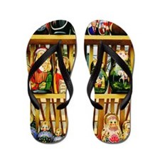 Close-up of religious and political dol Flip Flops