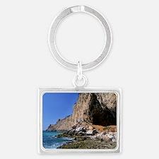 Gorham Cave, Gibraltar Landscape Keychain