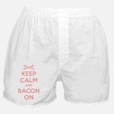 Keep Calm And Bacon On Boxer Shorts