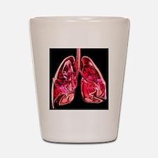 Lungs, artwork Shot Glass